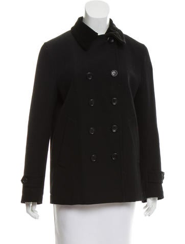 Comme des Garçons Wool Double-Breasted Jacket None