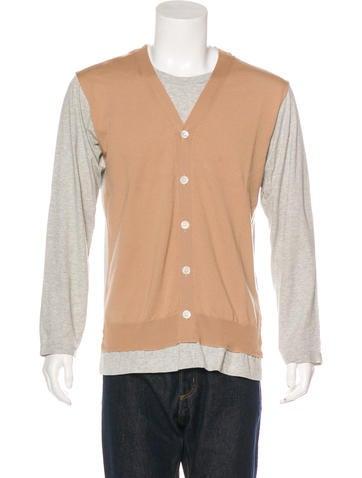 Comme des Garçons Wool Cardigan T-Shirt None