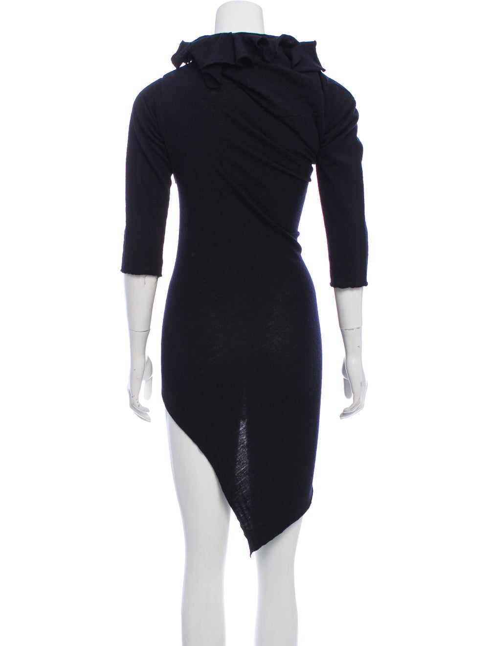 Comme des Garçons Vintage Wool Mini Dress Navy - image 3
