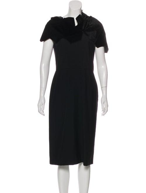 Comme des Garçons Hooded Midi Dress Black