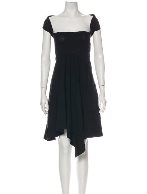 Comme des Garçons Square Neckline Mini Dress Black