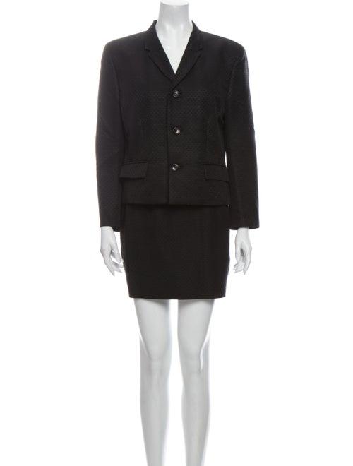 Comme des Garçons Wool Printed Skirt Suit Wool