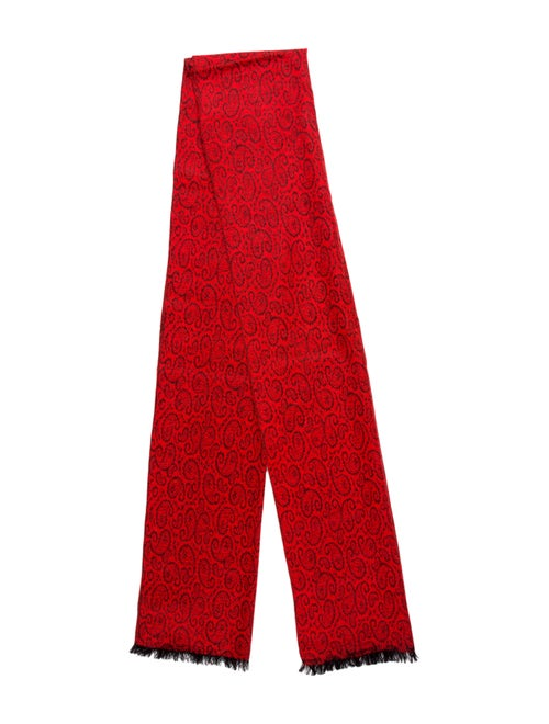 Complice Cashmere Abstract Scarf Red