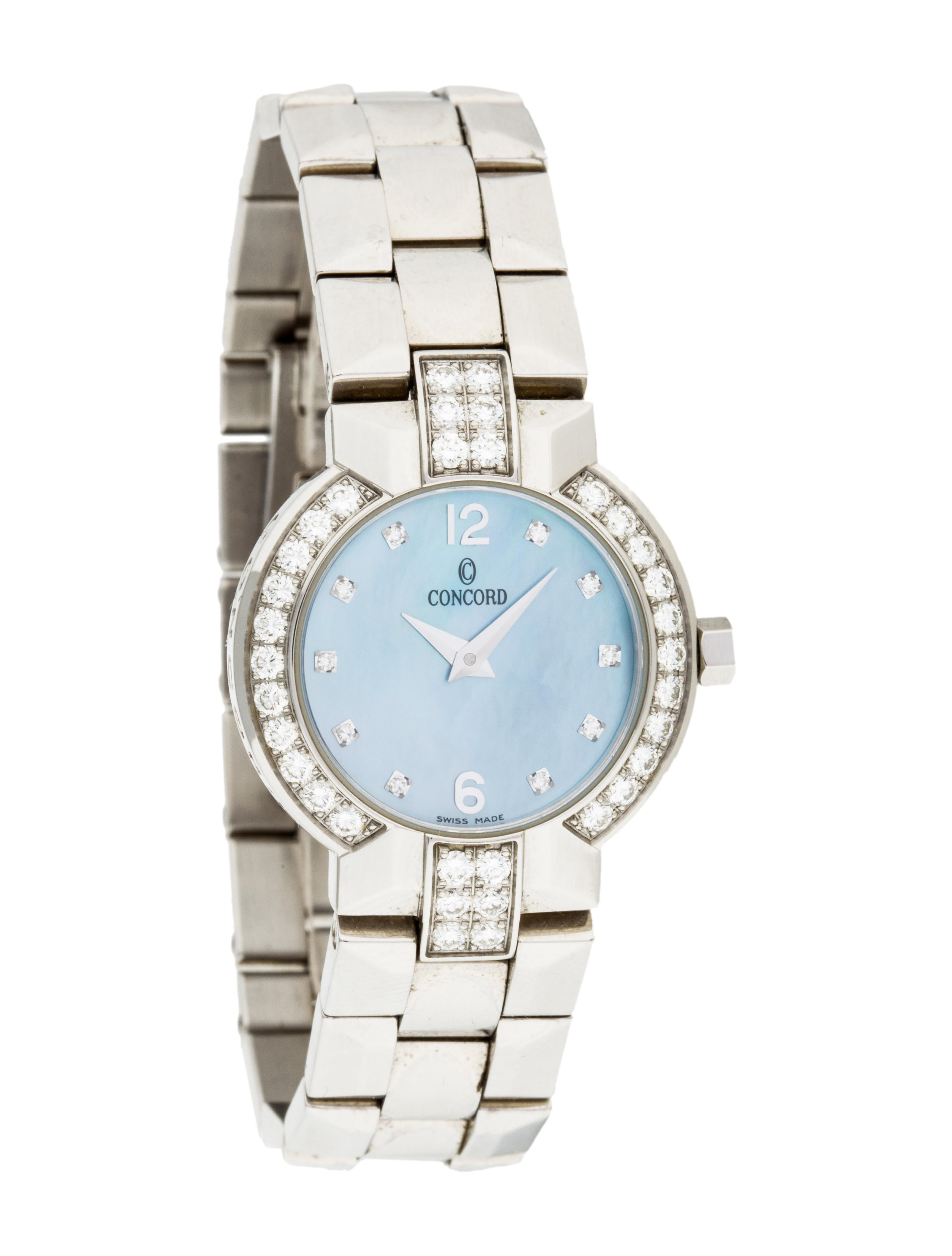Concord la scala watch w mother of pearl dial bracelet con20465 the realreal for Mother of pearl dial watch