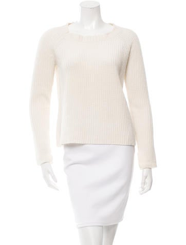 Co. Rib Knit Cashmere Sweater None