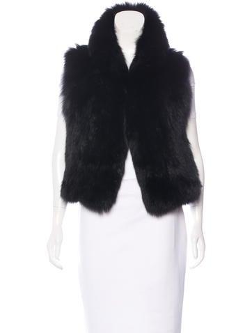 Co. Fox Fur Rib Knit Vest None