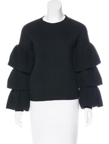 Co. Ruffled Wool Sweater None