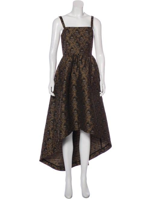 Co. Jacquard Evening Dress Brown