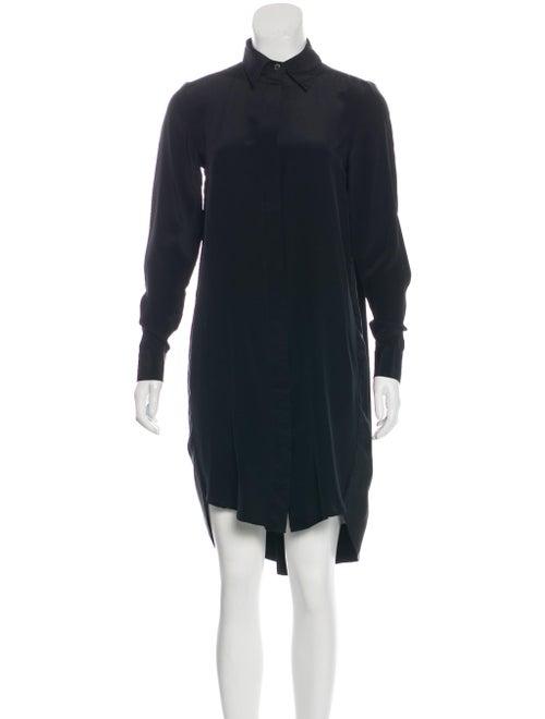 Co. Silk Button-Up Dress Black