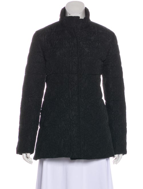 Co. Quilted Short Coat Black
