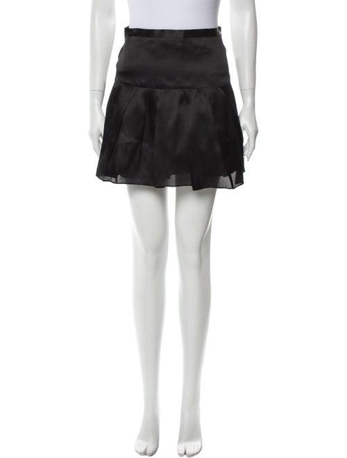 Co. Silk Mini Skirt Black