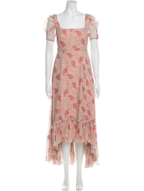 Co. Printed Maxi Dress White