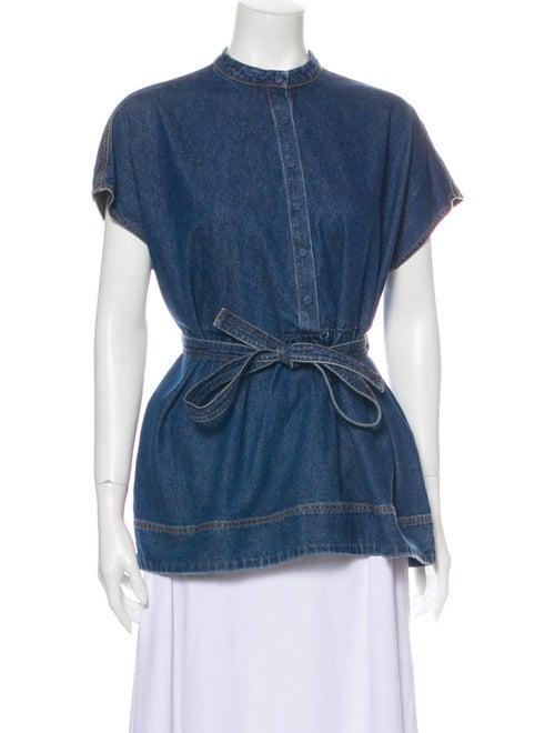 Co. Short Sleeve Top Blue
