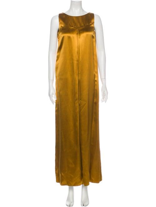 Co. Silk Long Dress Yellow