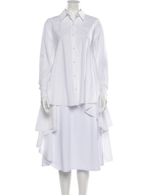 Co. Long Sleeve Button-Up Top White