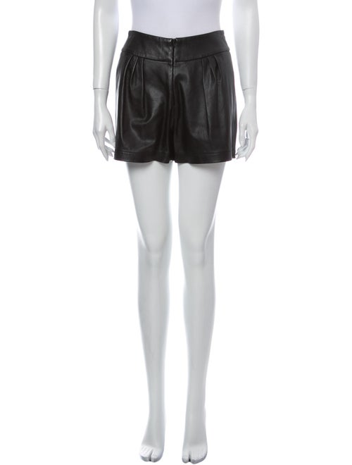 Co. Lamb Leather Mini Shorts Black