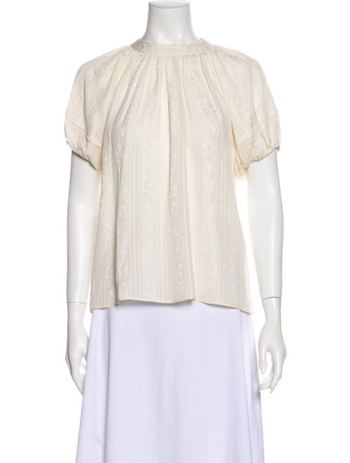 Co. Silk Mock Neck Blouse