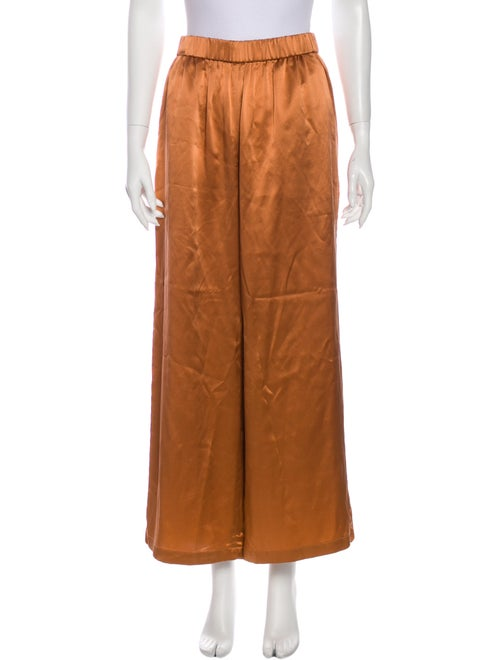 Co. Silk Wide Leg Pants w/ Tags Orange