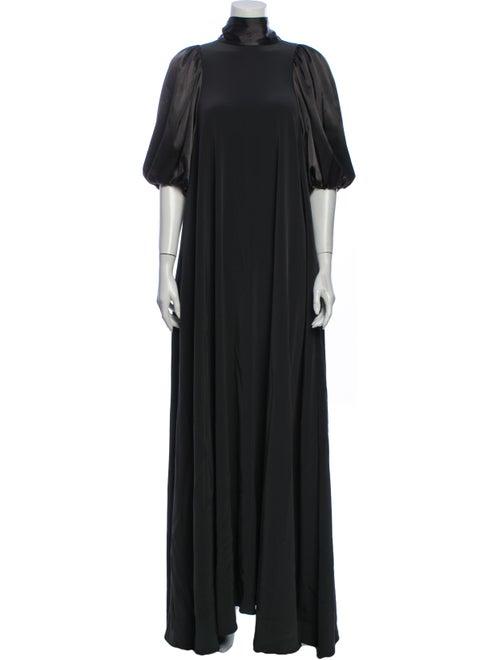 Co. Turtleneck Long Dress Green