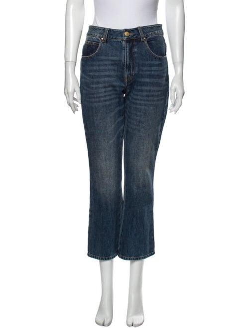 Co. Mid-Rise Straight Leg Jeans Blue