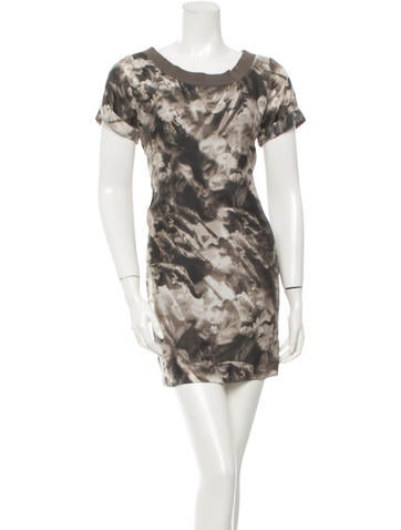 Costume National Silk Printed Dress None