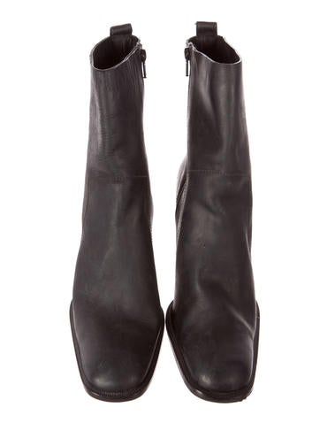 sale collections Costume National Leather Square-Toe Booties cheap sale brand new unisex wholesale price for sale shop for sale cheap 2015 new hVhHDUsiH