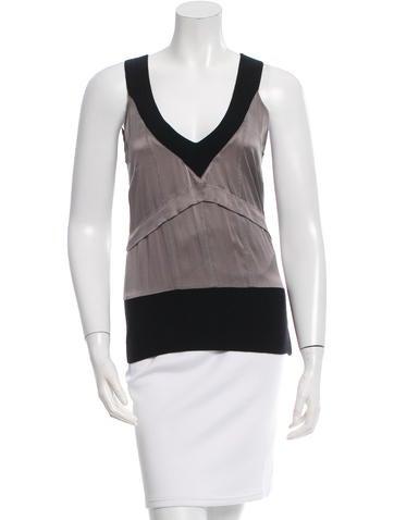 Costume National Sleeveless Silk Top None