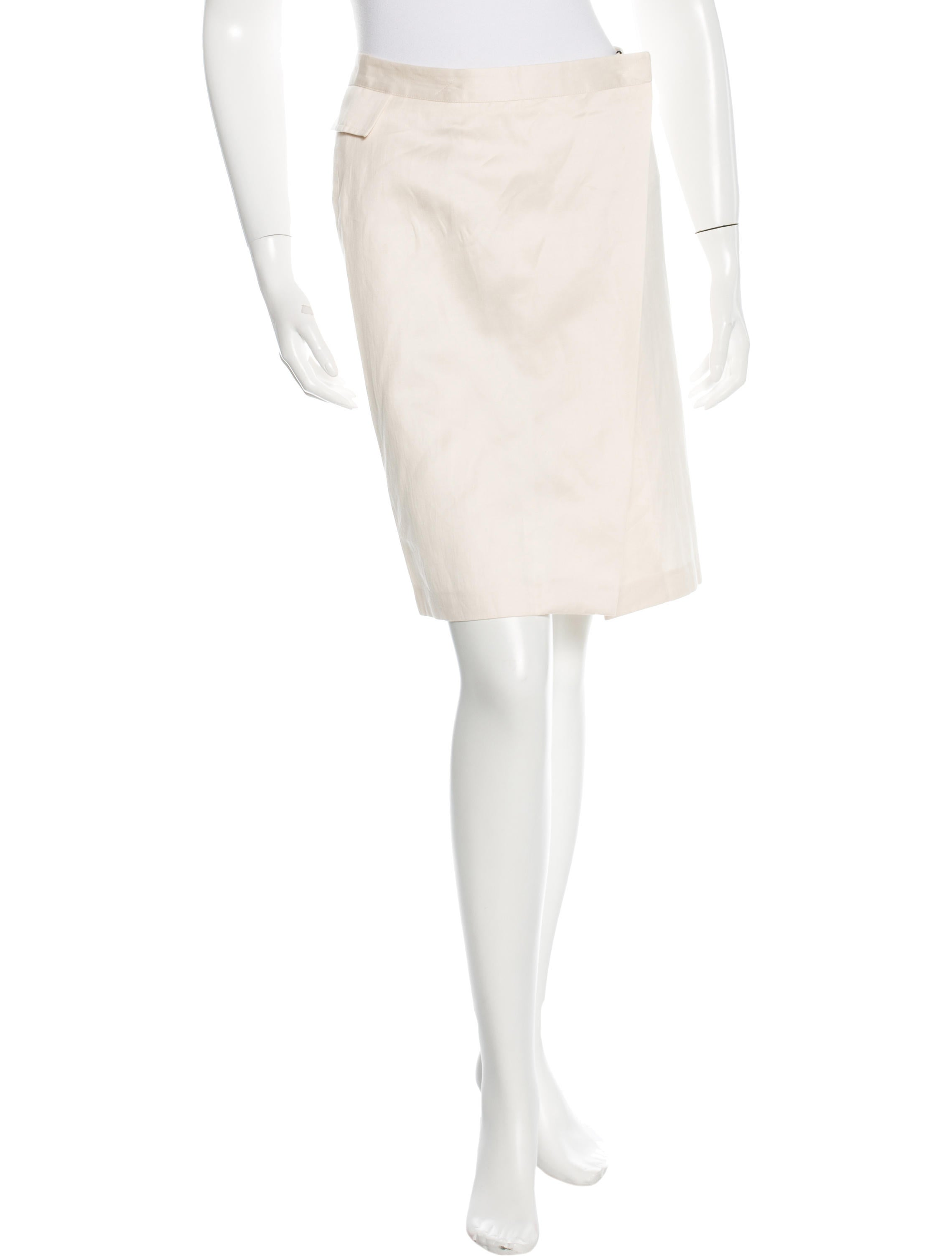 costume national knee length wrap skirt w tags clothing