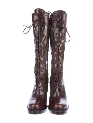 Lace-Up Mid-Calf Boots