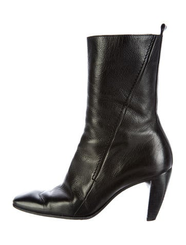 Costume National Leather Ankle Boots