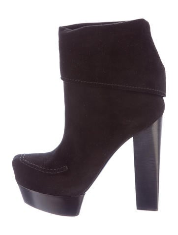 Costume National Suede Platform Booties