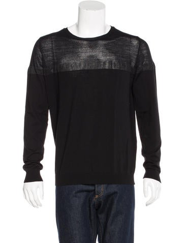 Costume National Wool Metallic-Accented Sweater None