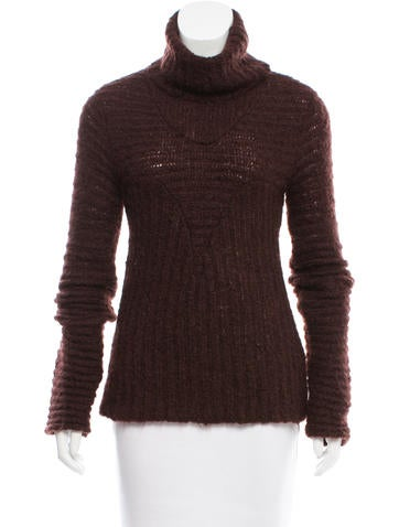 Costume National Wool & Mohair Blend Turtleneck Sweater None