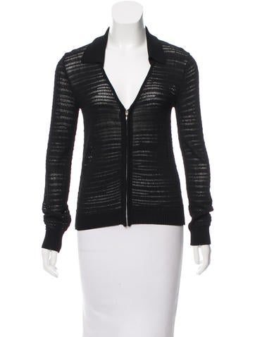 Costume National Long Sleeve Knit Jacket None