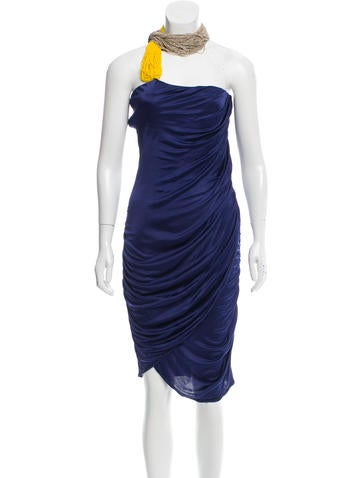 Costume National Beaded Ruched Dress w/ Tags None