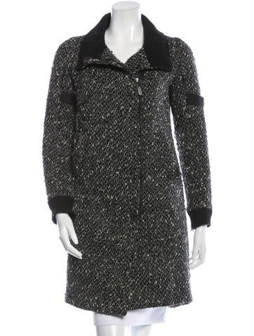 Costume National Bouclé Wool Coat None