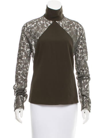 Costume National Wool Lace Top None