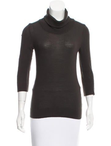 Costume National Wool & Cashmere-Blend Turtleneck Top None