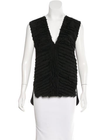 Costume National Tiered Sleeveless Top None