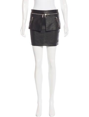 costume national leather peplum skirt clothing