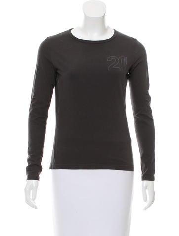 Costume National Logo Printed Scoop Neck Top None