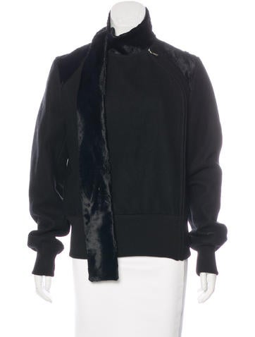 Costume National Wool Zip-Front Jacket None