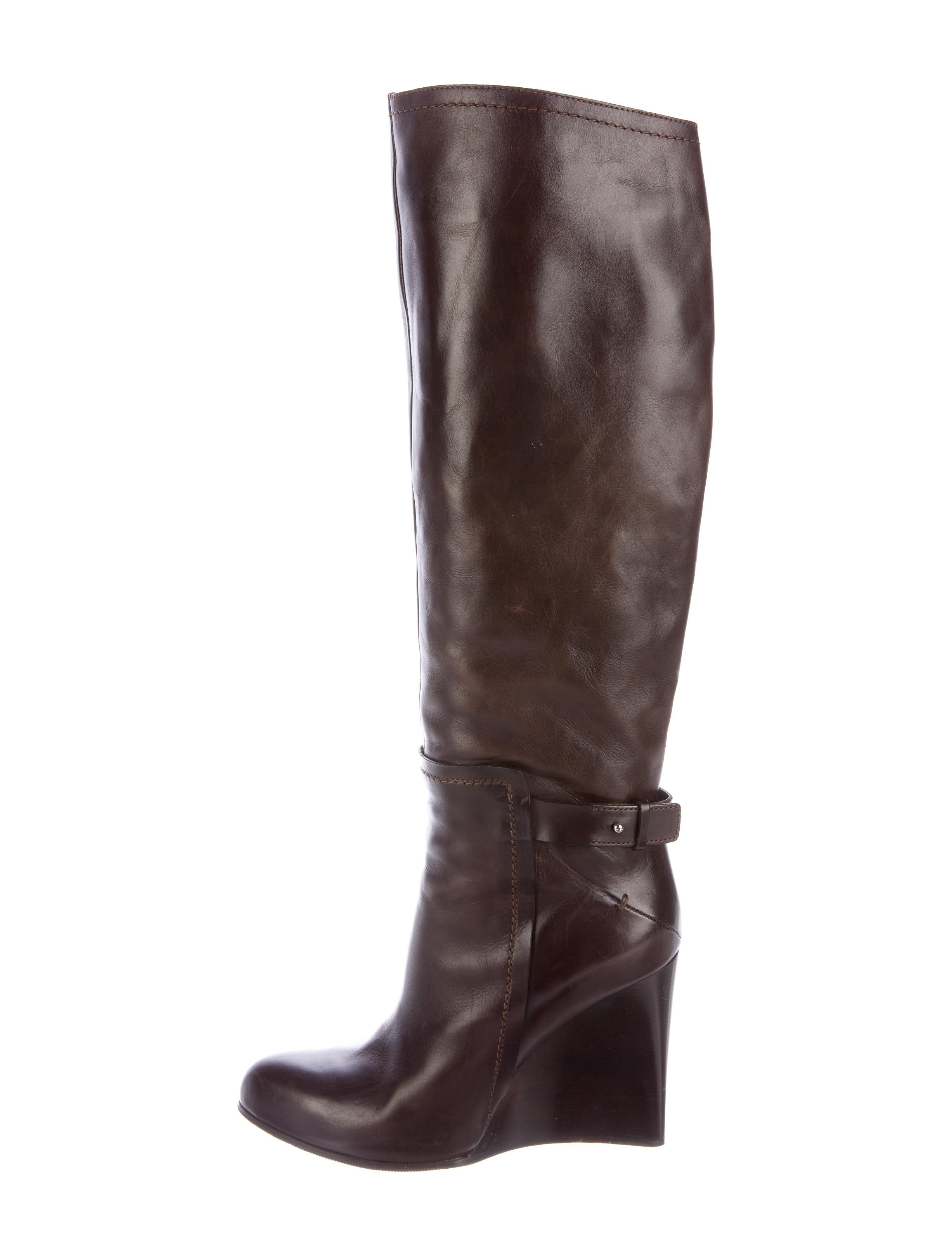 costume national knee high wedge boots shoes cot23678