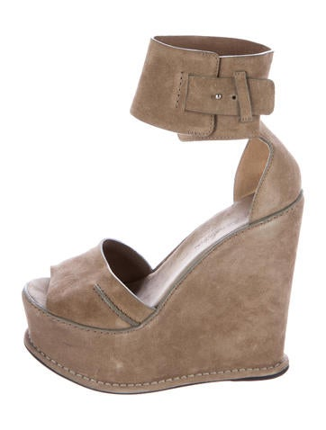 Costume National Suede Wedge Sandals None