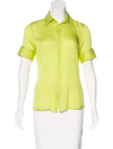 Costume National Silk Button-Up Top None