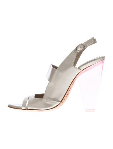 Manchester cheap price sale 100% guaranteed Costume National Patent Leather Slingback Sandals discount low shipping cheap real finishline sale original 8CBCgGi