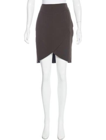costume national wrap hem knee length skirt w tags