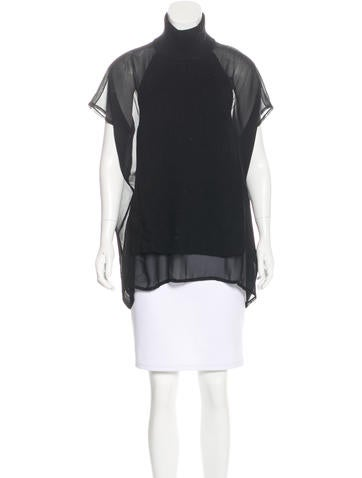 Costume National Wool-Accented Silk Top None