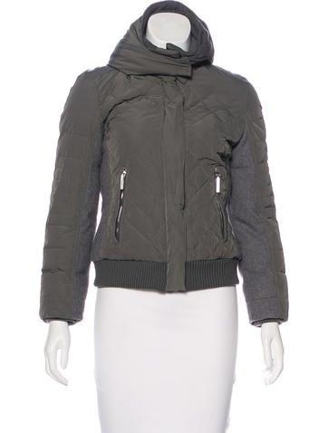 Costume National Wool-Paneled Hooded Jacket None