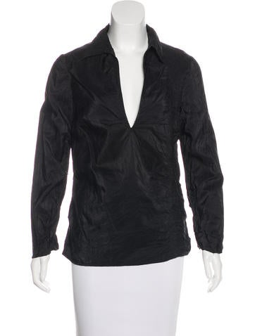 Costume National Silk Textured Top None